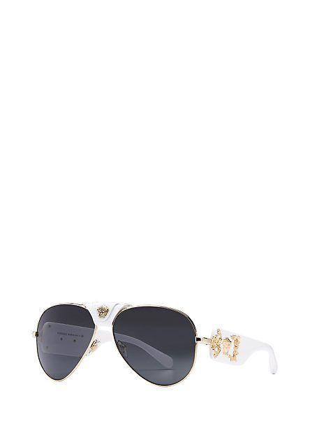 9c6bf1ccf5e0 White Medusa Sunglasses for Men