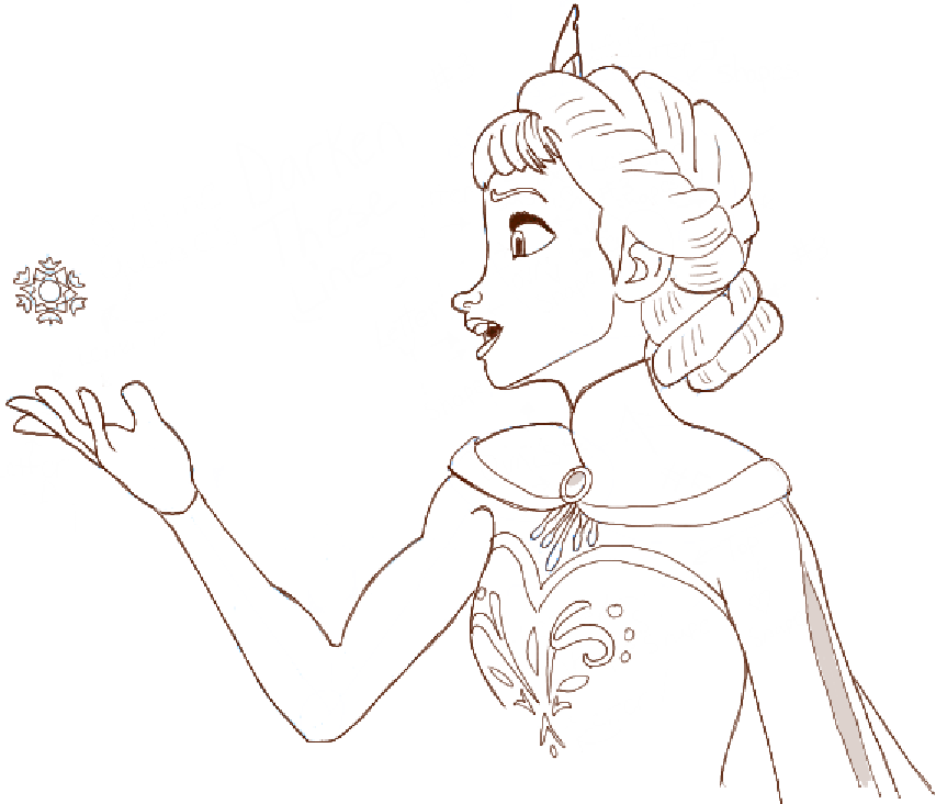 Xterm Line Drawing Characters : How to draw elsa from frozen diy craft ideas