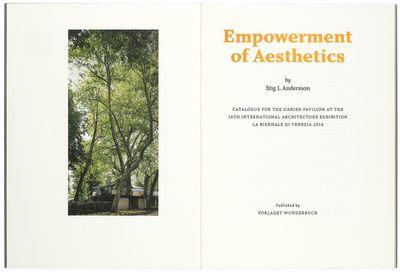 """Empowerment of Aesthetics"" Stig L. Andersson"