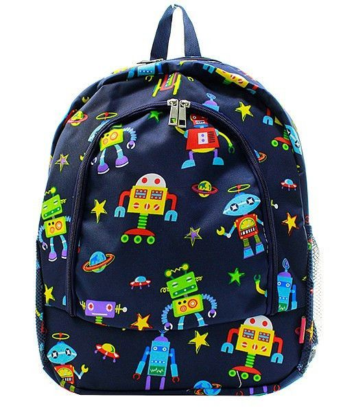 651a9804a9 Robot Space Theme Large Backpack