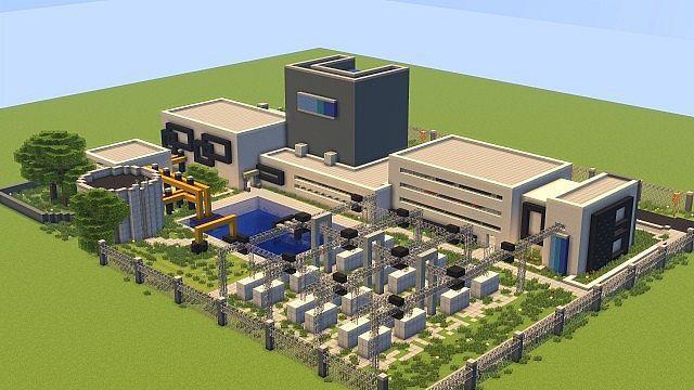 modern large power plant minecraft project minecraft pinterest rh pinterest com Power Plant Boiler Diagram Oil Power Plant Diagram