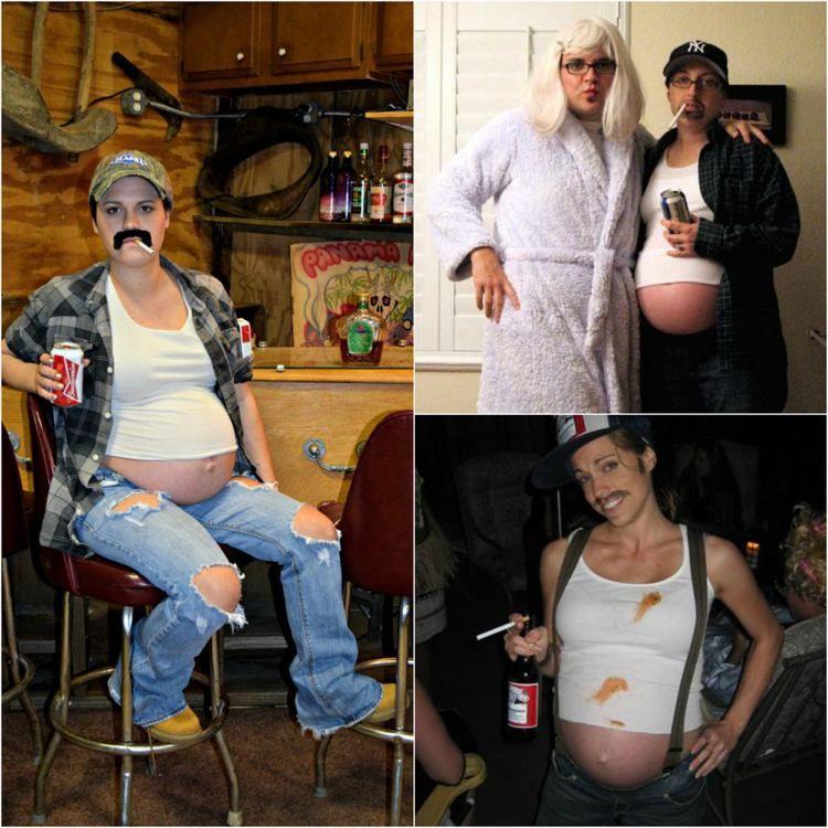 costume de déguisement femme enceinte pour Halloween - déguisement en homme avec…