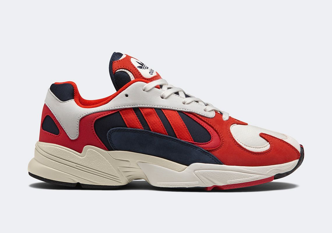 adidas Yung 1 Navy Red White B37615 | Sneakers, Running ...