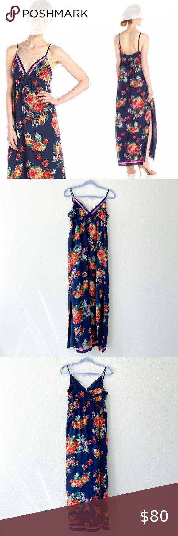 Joie Sherita Maxi Floral 100 Silk Summer Dress In 2020 Silk Summer Dress Vacation Maxi Dress Summer Dresses