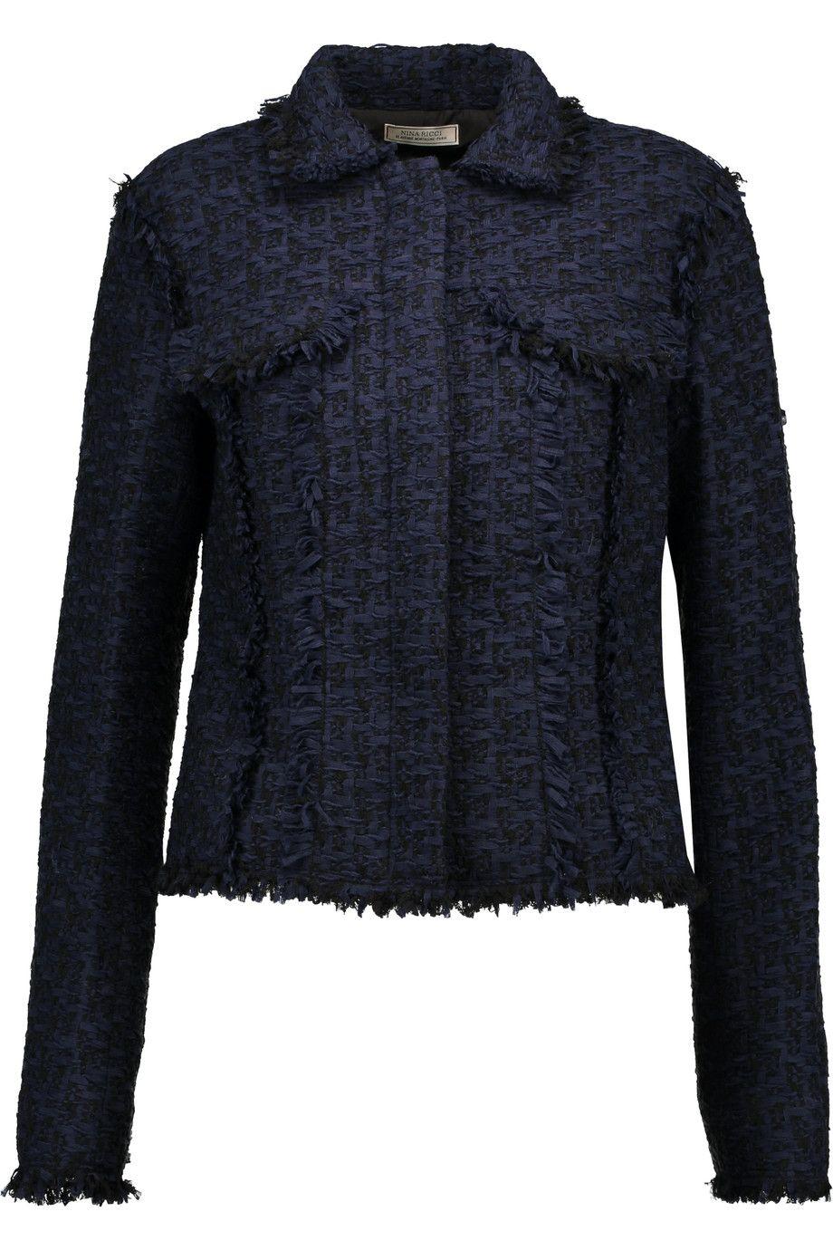 NINA RICCI Wool-blend tweed jacket. #ninaricci #cloth #jacket