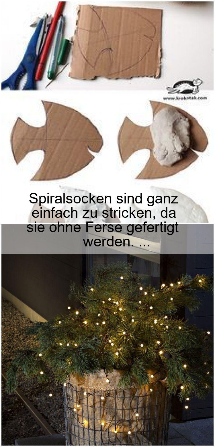 Photo of Spiralsocken sind ganz einfach zu stricken, da sie ohne Ferse gefertigt werden. …,  #einfac…