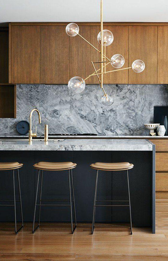 La cuisine équipée avec îlot central - 66 idées en photos - Archzine - Cuisine Moderne Avec Ilot Central