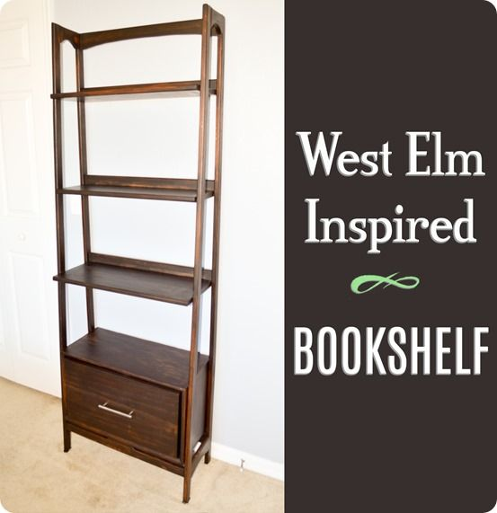 Diy Furniture West Elm Knock Off Mid Century Bookshelf Free Woodworking Plans