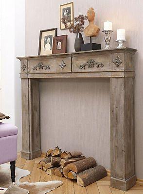 holz kaminumrandung in im online shop von baur versand estilo hindu pinterest. Black Bedroom Furniture Sets. Home Design Ideas