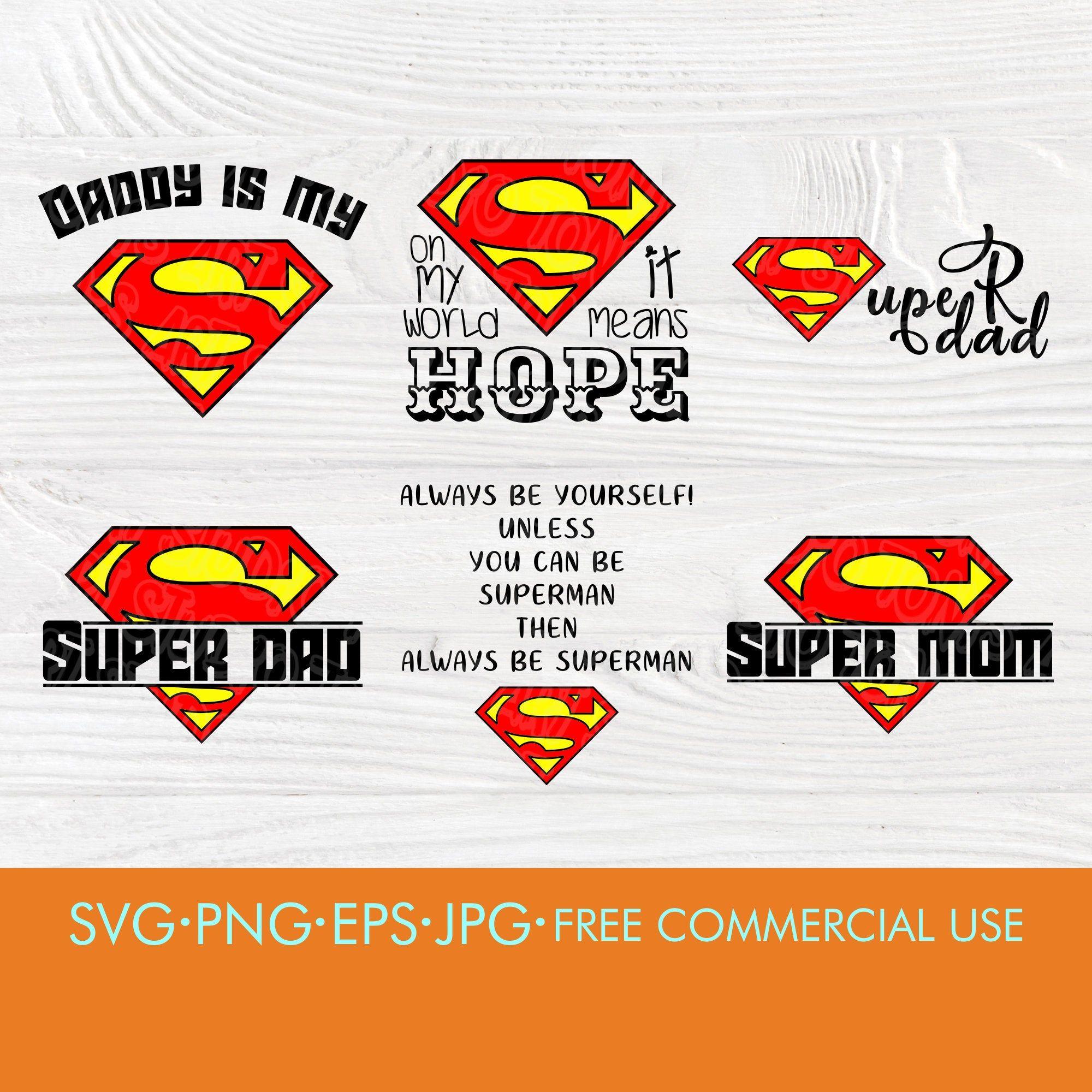 Superman Svg Superhero Svg Super Dad Svg Super Mom Svg Superman Sign Superman Logo Superman Clipart Superman Super Dad Superman Clipart Superman