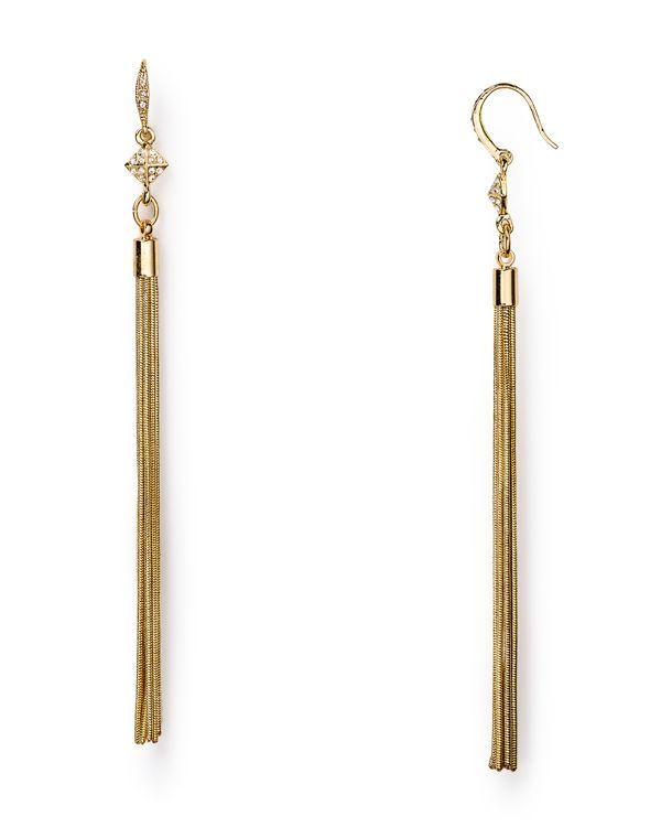 Abs by Allen Schwartz Tassel Earrings