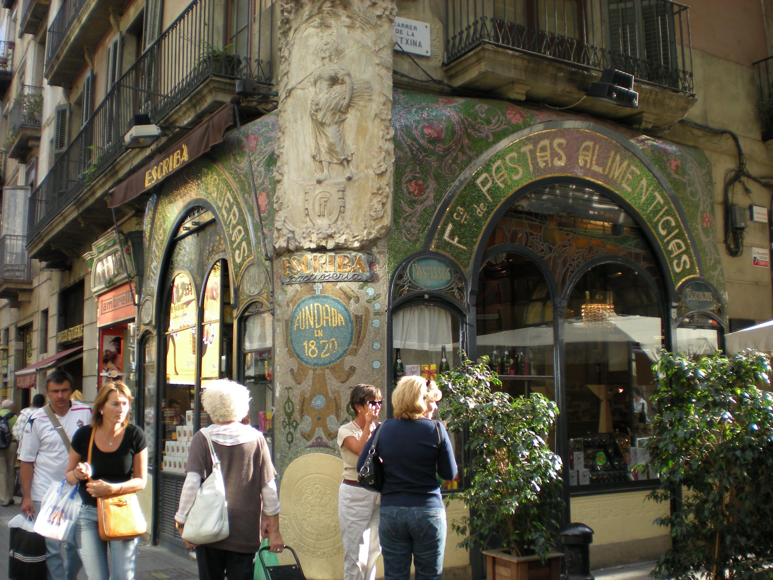 Barcelona, Chocolate shop tile work
