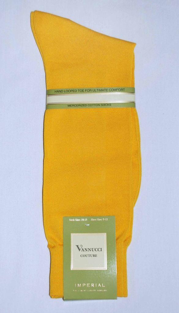 Orange Solid Color Mens Dress Sock Vannucci