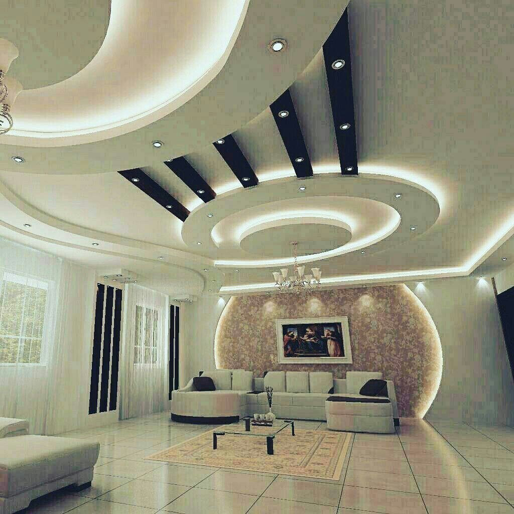 Pin by manu on ceiling haus design design modern - False wall designs in living room ...