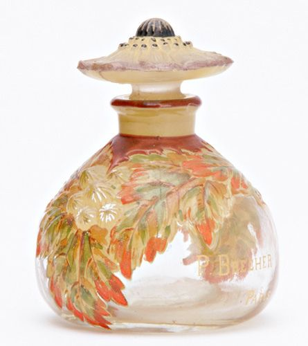 """BRECHER """"Sous la Charmille"""" J. Viard perfume bottle Circa 1924"""