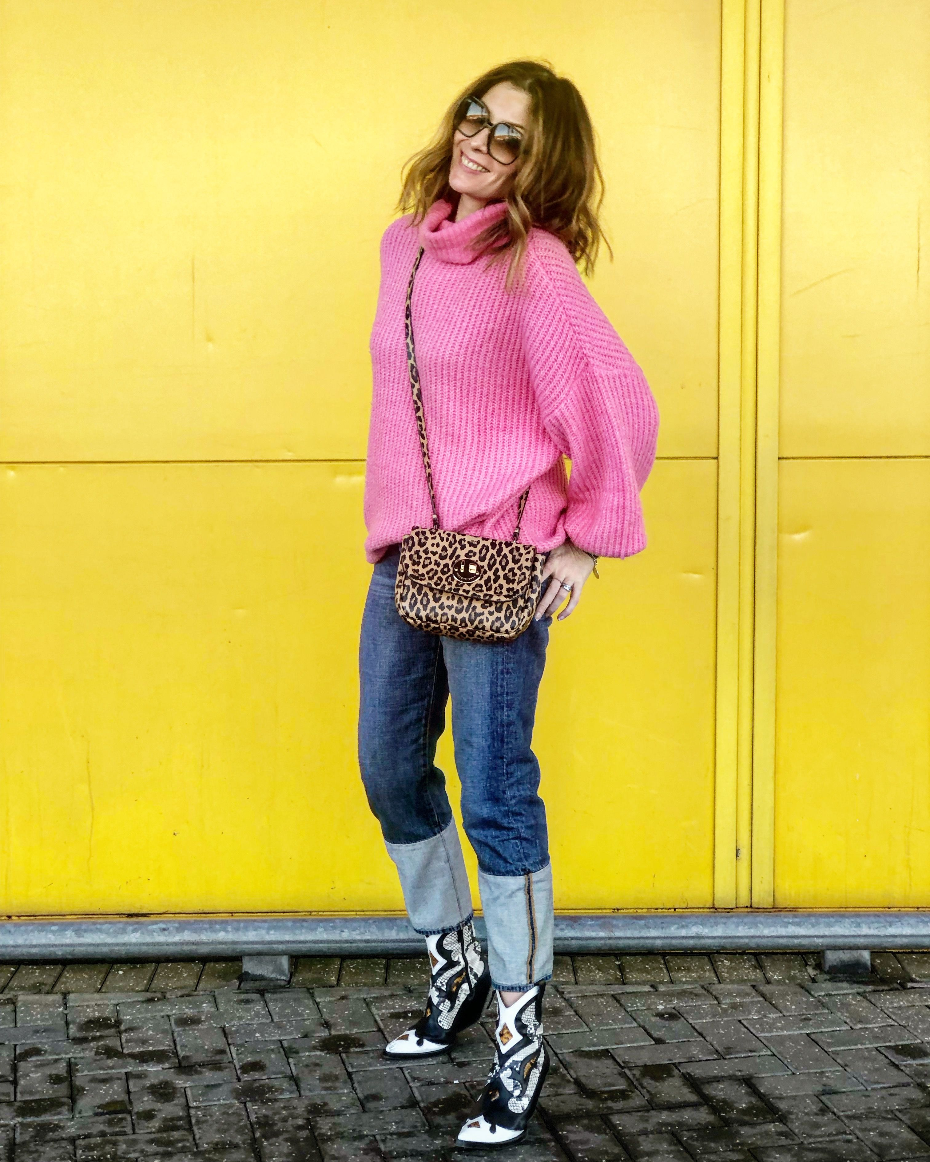 4d841a219 Jumper - Noisy May from Debenhams (sale aw18) Jeans - Frame from Fenwick  (sale aw17) Boots - Zara (aw18) Bag - Hill   Friends (gift ss18)