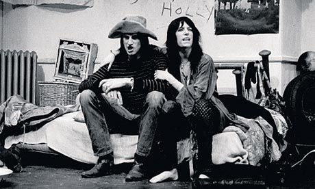 Smith with Sam Shepard in their play, Cowboy Mouth, in New York in 1971. Photograph: Gerard Malanga