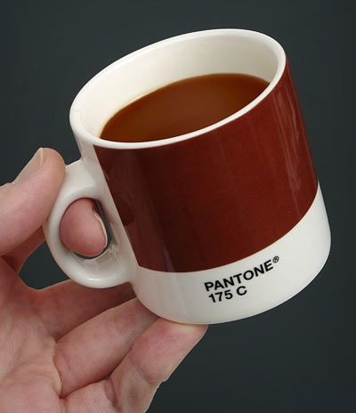 How do I like my coffee? Pantone 175. Very neat for those with a love of color and design