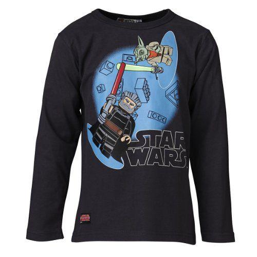 LEGO Wear - Camiseta de Lego Star Wars con cuello redondo de manga larga para niño, talla 5 años (110 cm), color gris oscuro 984 #camiseta #realidadaumentada #ideas #regalo