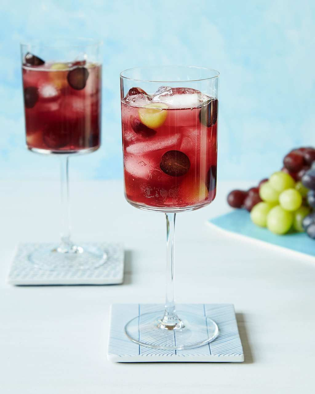Elderflower And Grape Spritzer Recipe Spritzer Recipes Elderflower Grape Drinks Recipes