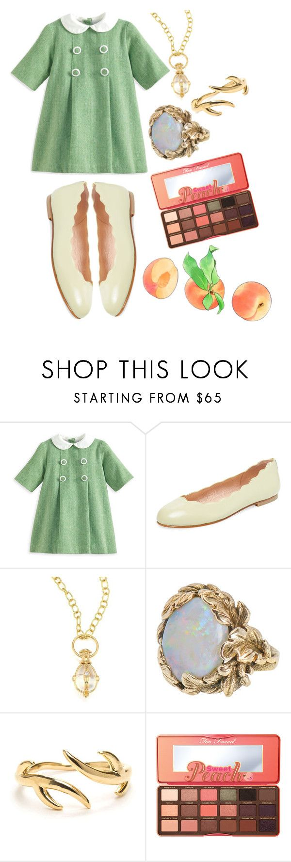 """""""Healer Child"""" by pastelma ❤ liked on Polyvore featuring French Sole FS/NY, Temple St. Clair and Too Faced Cosmetics"""