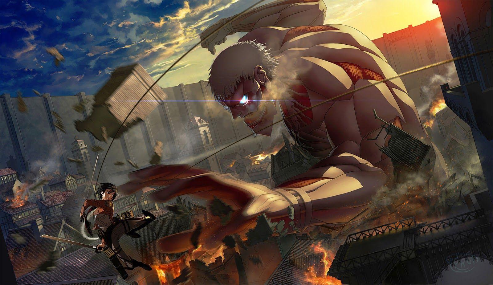 Definitely A Great Fight Scene Concept Attack On Titan Art