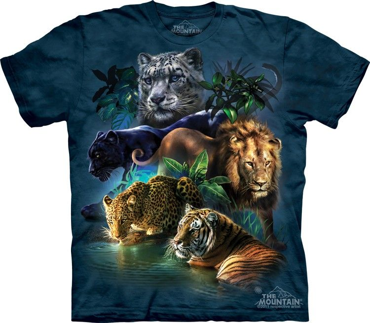 Black Panther Face Big Cats T Shirt Child Unisex Mountain