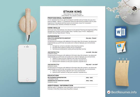 Resume template with a cover letter and references template! Get a ...