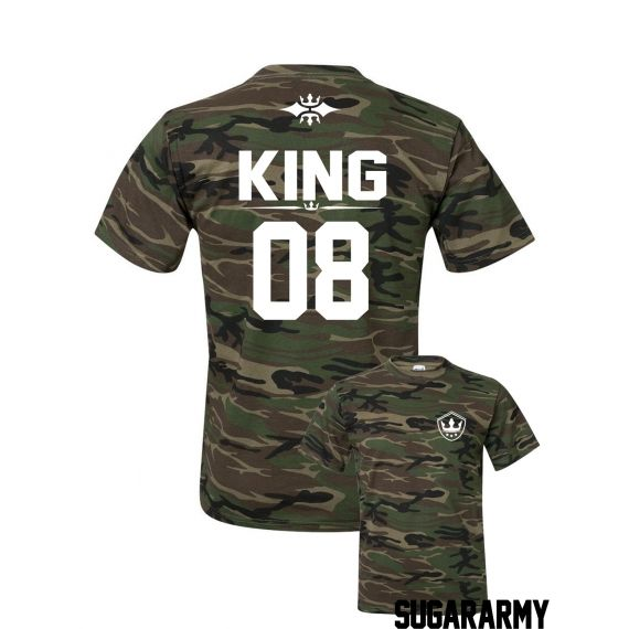 5b61fbf21cb19 Camouflage KING t-shirt ☆ SPECIAL EDITION ☆ Custom number ...