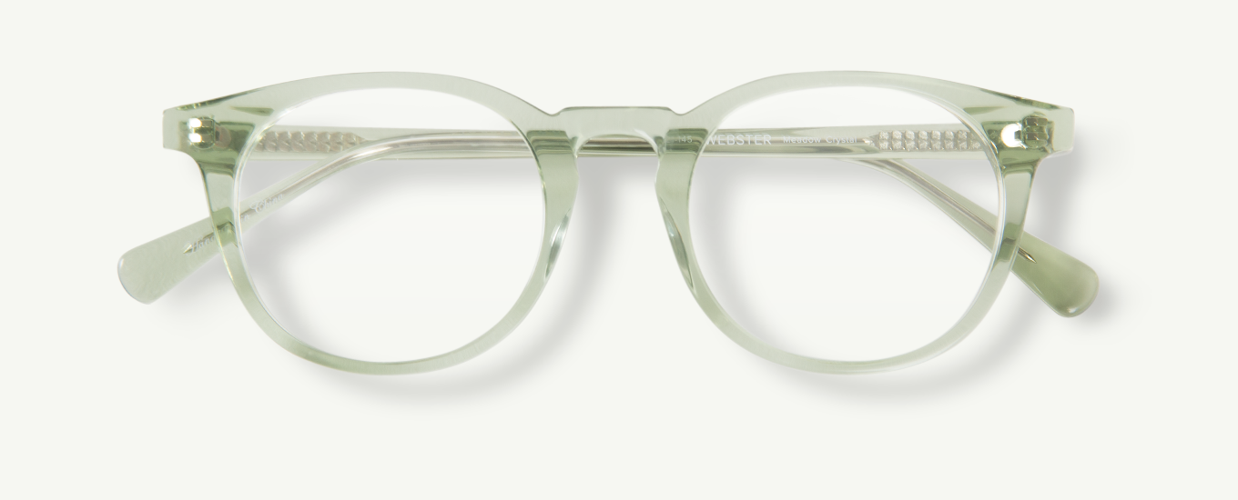 8e31ede5a145 Webster in Meadow Crystal - Classic Specs Rounded Rectangle, Eyeglasses For  Women, Prescription Lenses
