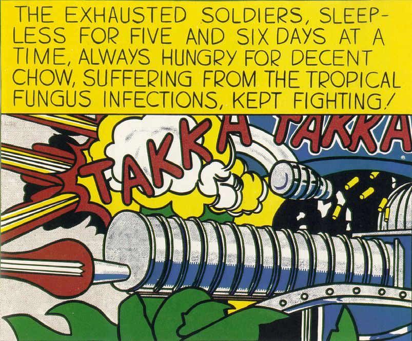 Roy Lichtenstein, takka-takka, 1962
