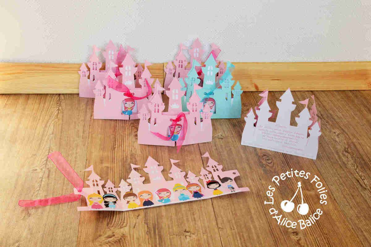 anniversaire princesse invitation ch teau disney diy cameo silhouette machine de. Black Bedroom Furniture Sets. Home Design Ideas
