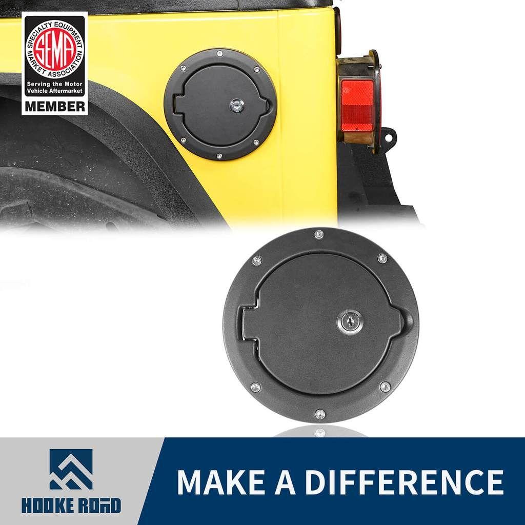 Hooke Road Fuel Gas Tank Cover W Lock Key Jeep Wrangler Tj 97 06 Jeep Wrangler Tj Jeep Wrangler Wrangler Tj