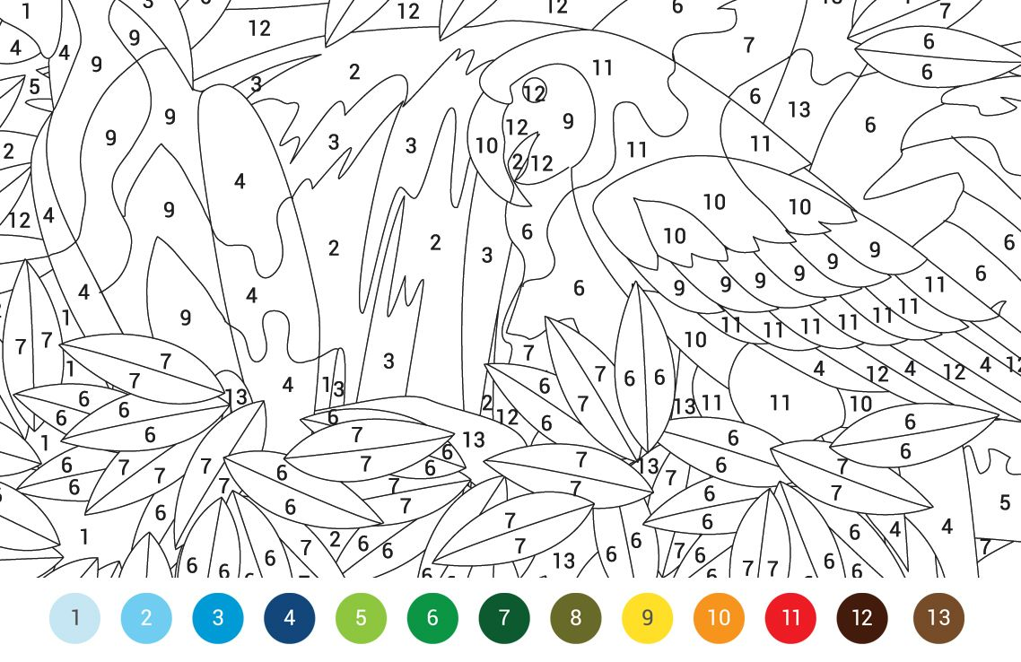 Animals Colouring By Numbers Free Pattern Download Whsmith Blog Color By Number Printable Coloring Pages Color By Numbers