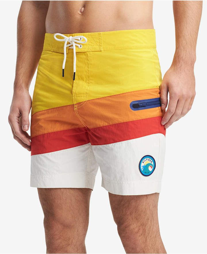 734e8ecf1dd44 Tommy Hilfiger Men's Belmont Colorblocked 6.5 Board Shorts, Created for  Macy's