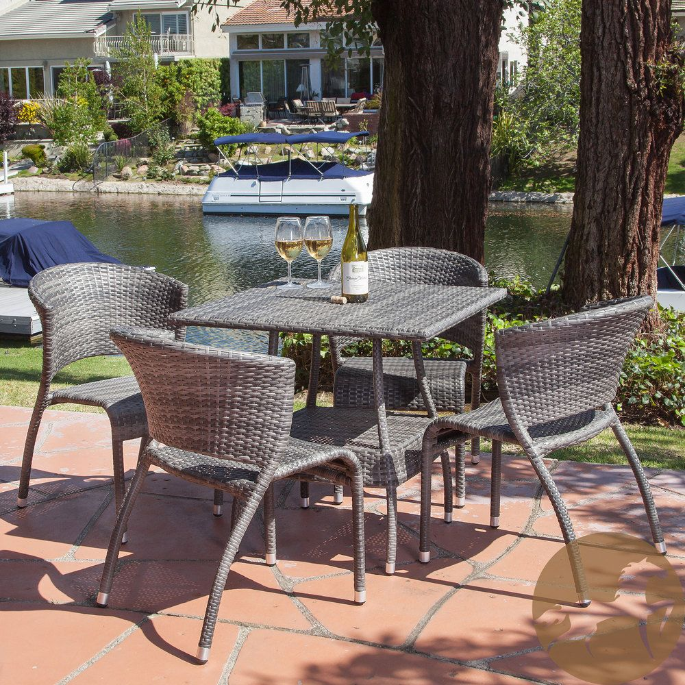 Christopher knight home tampa 5 piece outdoor dining set overstock com shopping the best deals on dining sets