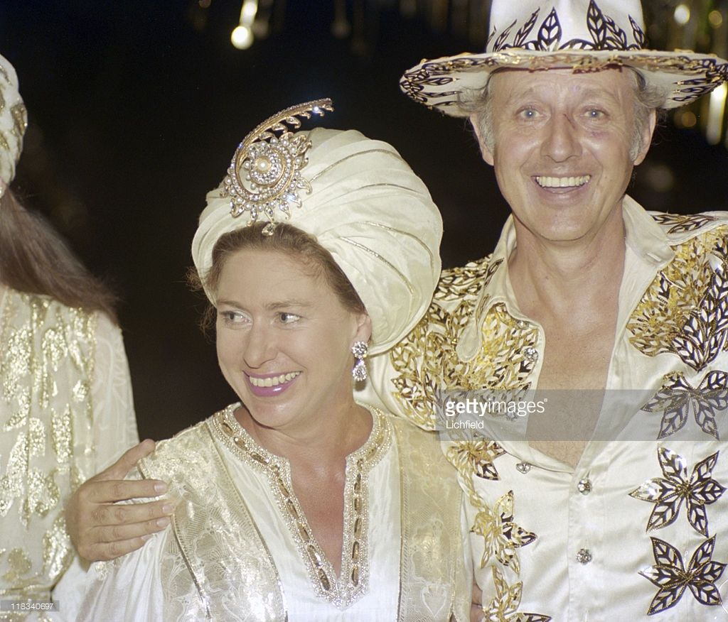 22nd Birthday Ideas In November: Colin Tennant And Princess Margaret, At Gold Themed 50th