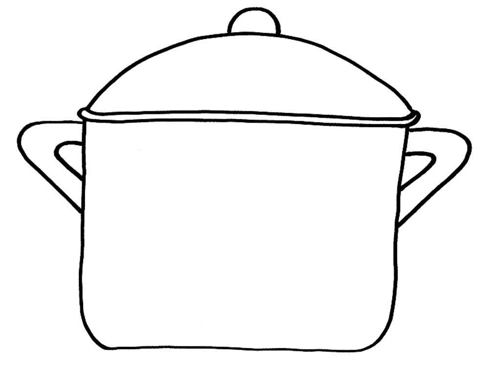 kleurplaat koekenpan