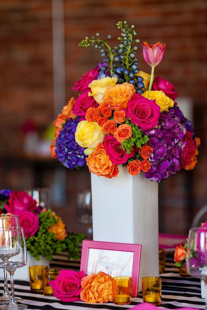 Floral Art Tween Birthday Party Mexican Party Theme Flower Centerpieces Floral