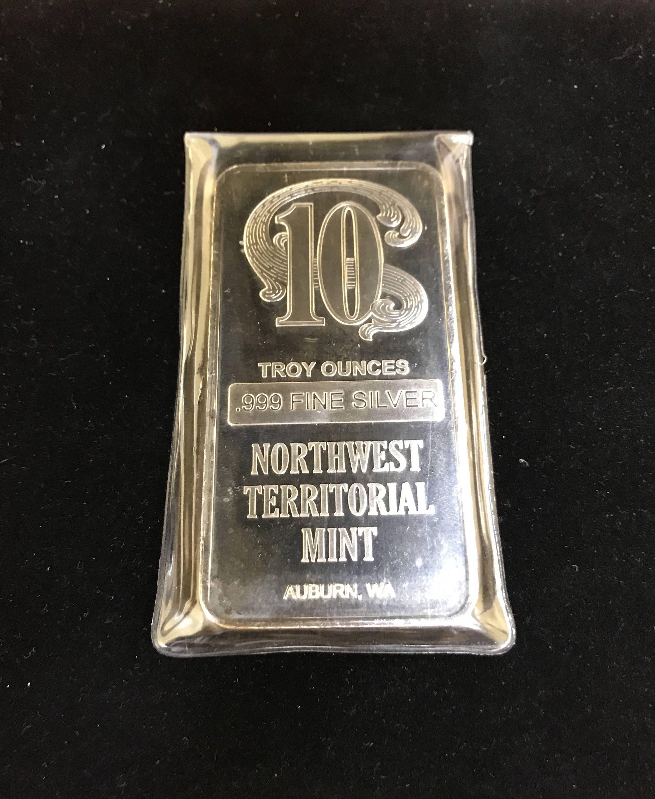 10 Oz Northwest Territorial Mint Silver Bar 10 Troy Oz 999 Etsy Silver Bars Silver Silver Art