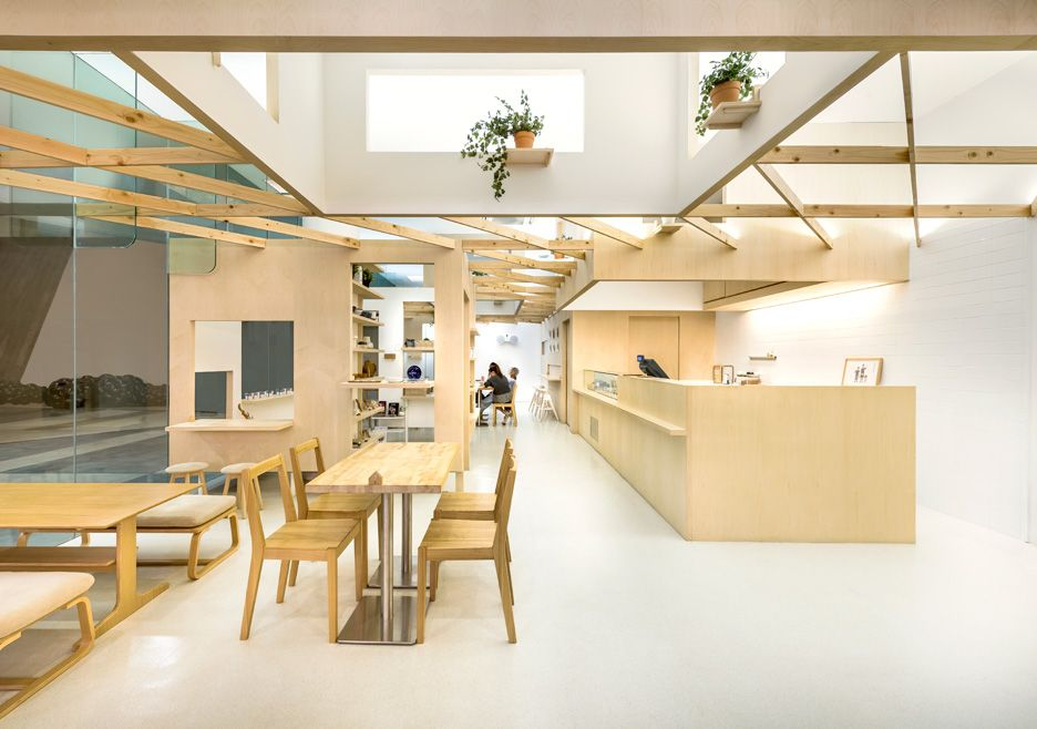 Produce Workshop Uses Wooden Trellis To Create Connected Shops