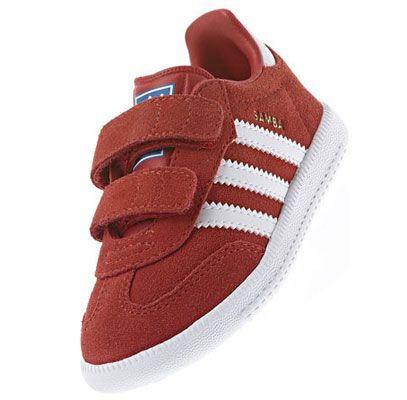 Adidas Samba trainers for kids reissued in red and blue suede