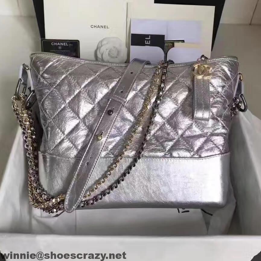 8ad4bac2c219 Chanel Metallic Leather Gabrielle Hobo Bag   Chanel   Chanel, Chanel ...