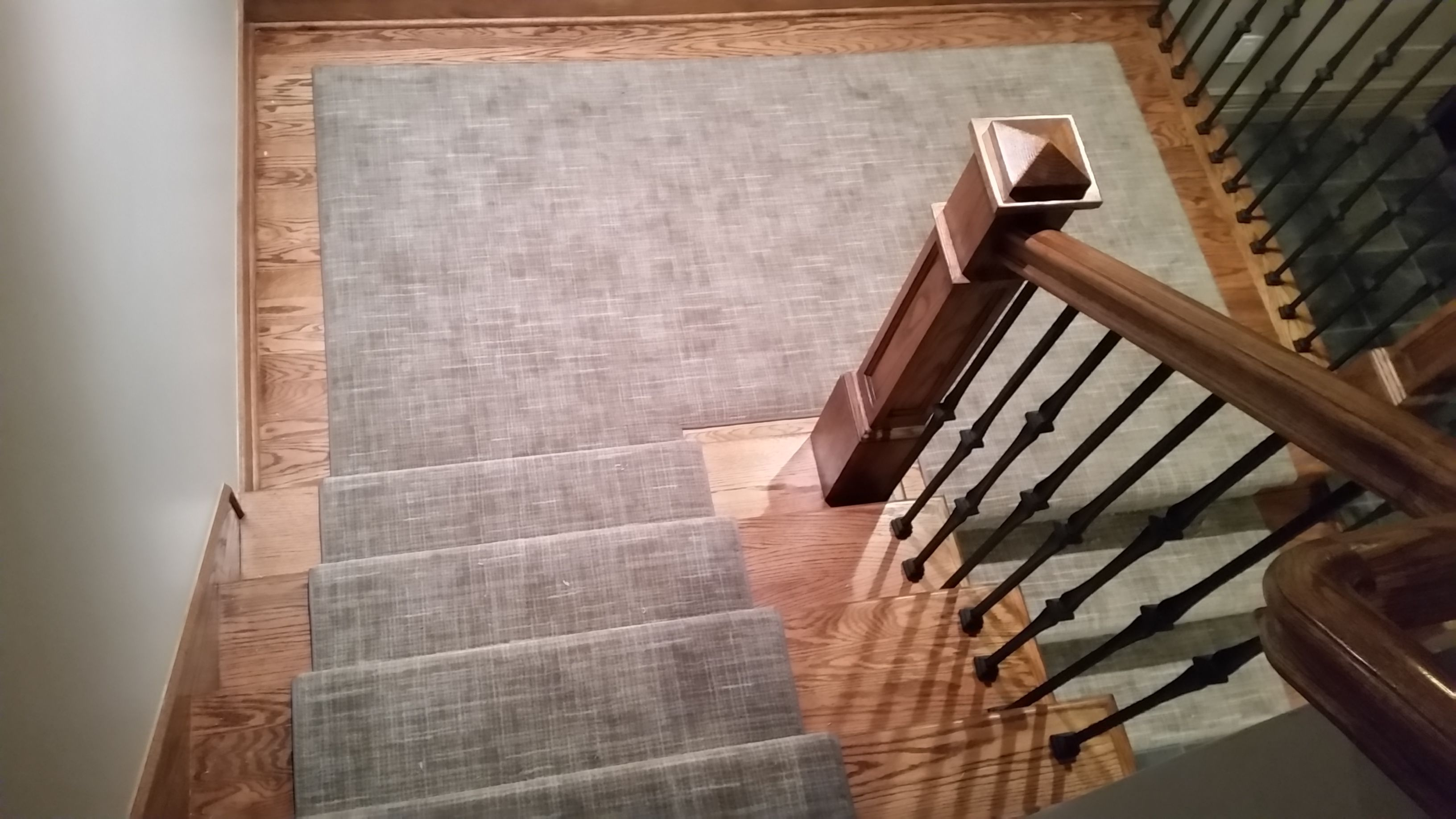Riemer Floors Recently Installed Stitches By Miliken Carpet In Silver Taupe  In A Bloomfield Hills,