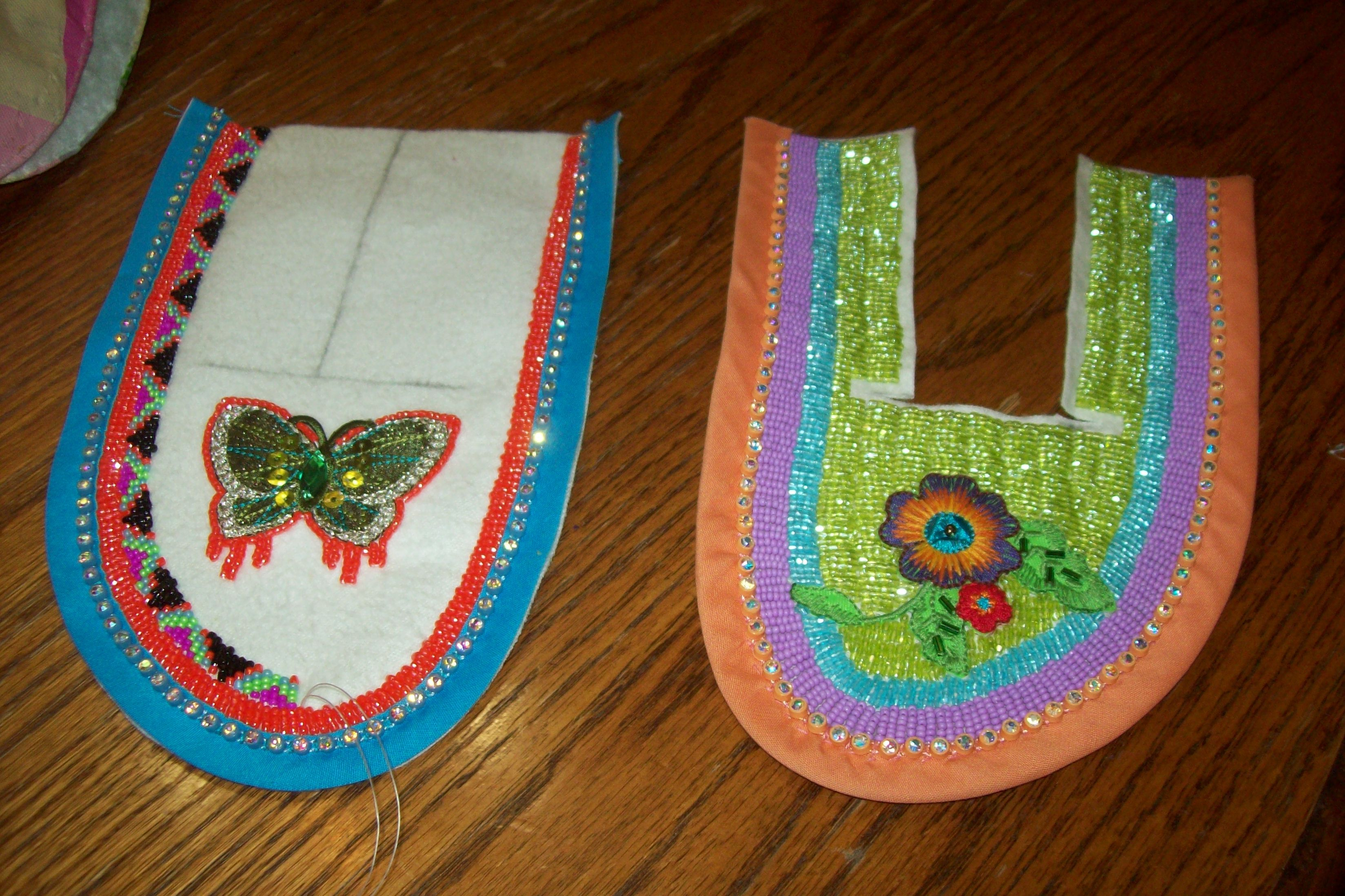 stages of completion beaded moccasins american