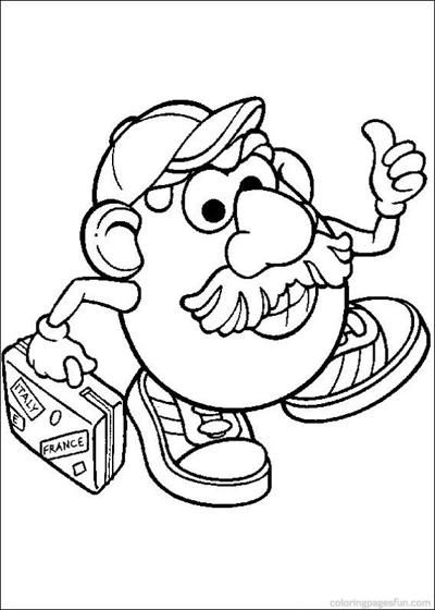 Mr Potato Head Coloring Pages Toy Story Coloring Pages Cool Coloring Pages Coloring Pages