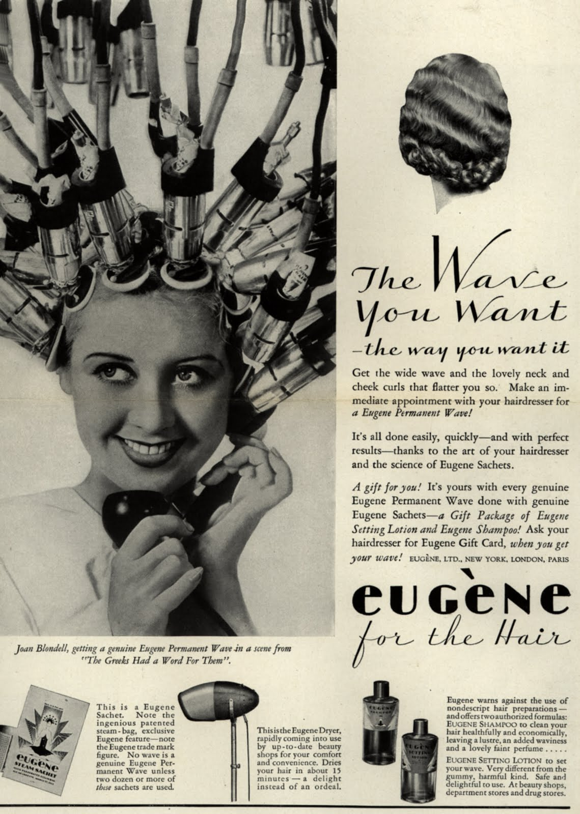 """""""The Wave you want they way you want it"""" 1930's Eugene"""