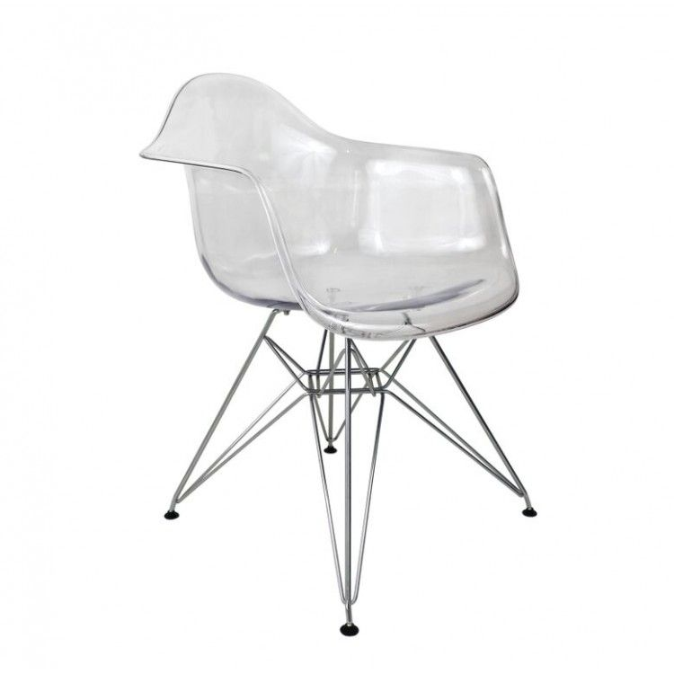 Superior Charles Ray Eames Inspired DAR Chair   Clear   FREE UK DELIVERY