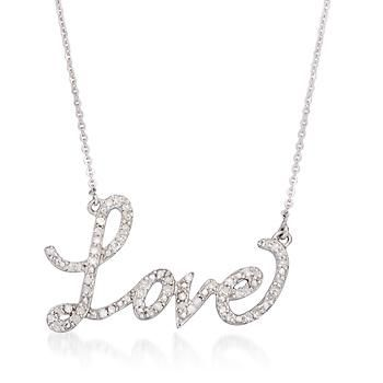 26 ct tw diamond love pendant necklace in 14kt white gold 18 tw diamond love pendant necklace in 14kt white aloadofball Image collections