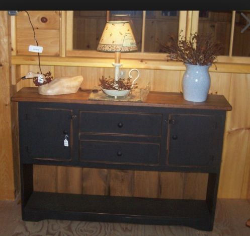 Swell Primitive Furniture I Really Want A Sofa Table Like This Machost Co Dining Chair Design Ideas Machostcouk